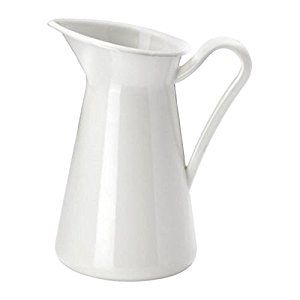 white ikea pitcher