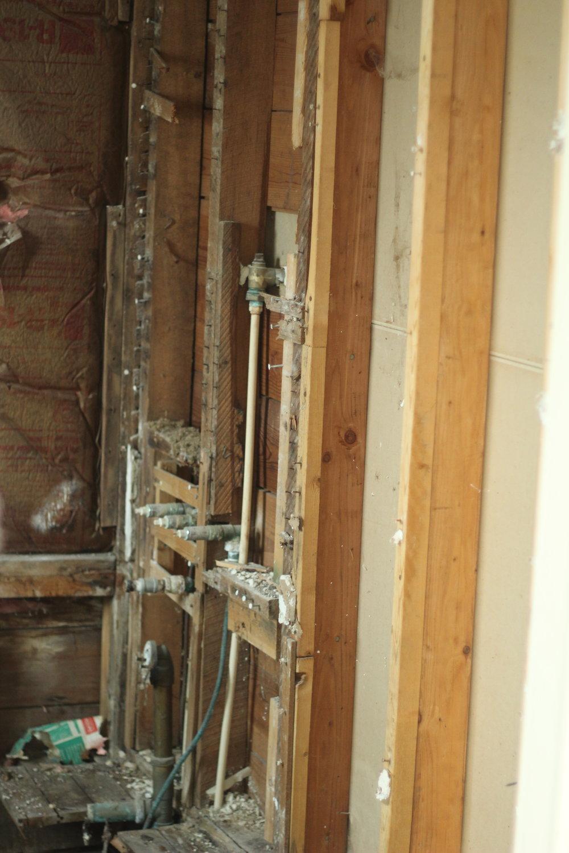 farmhouse bathroom renovation demo