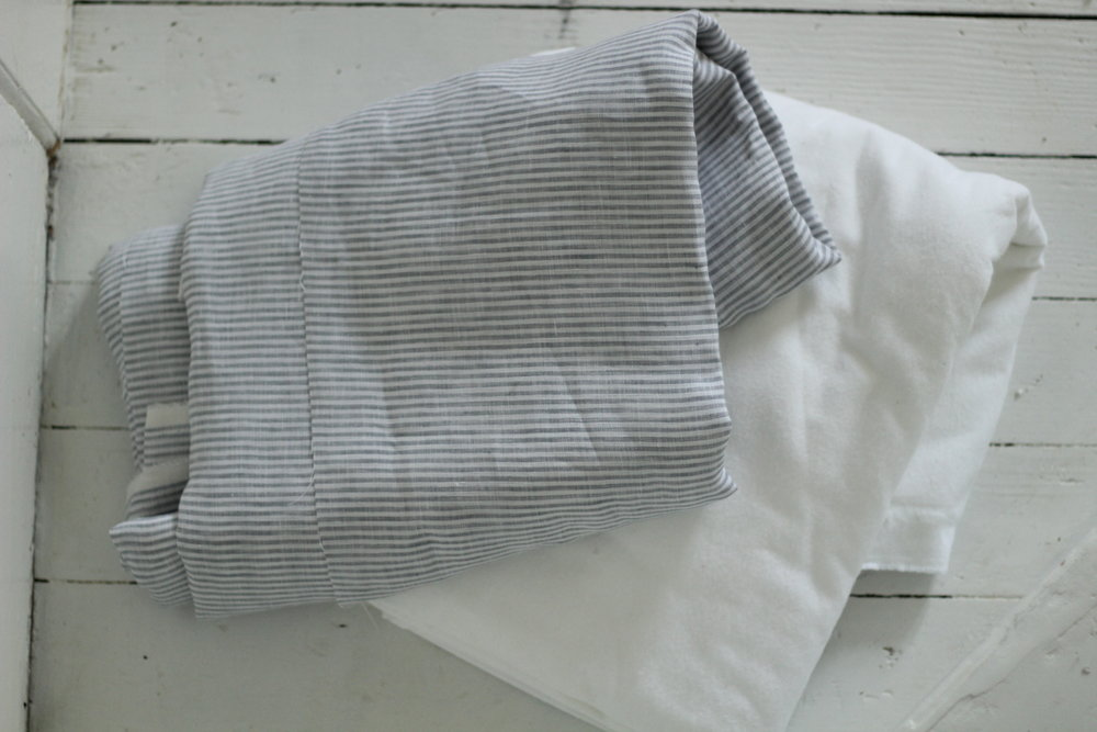 linen and flannel throw blanket
