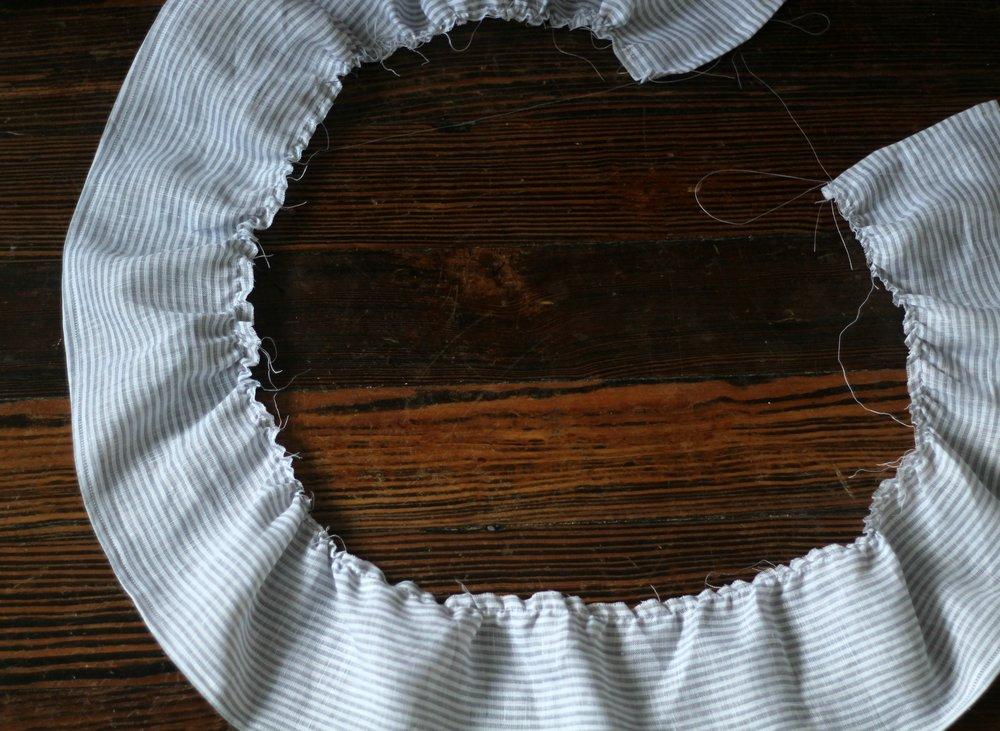 linen blanket ruffles