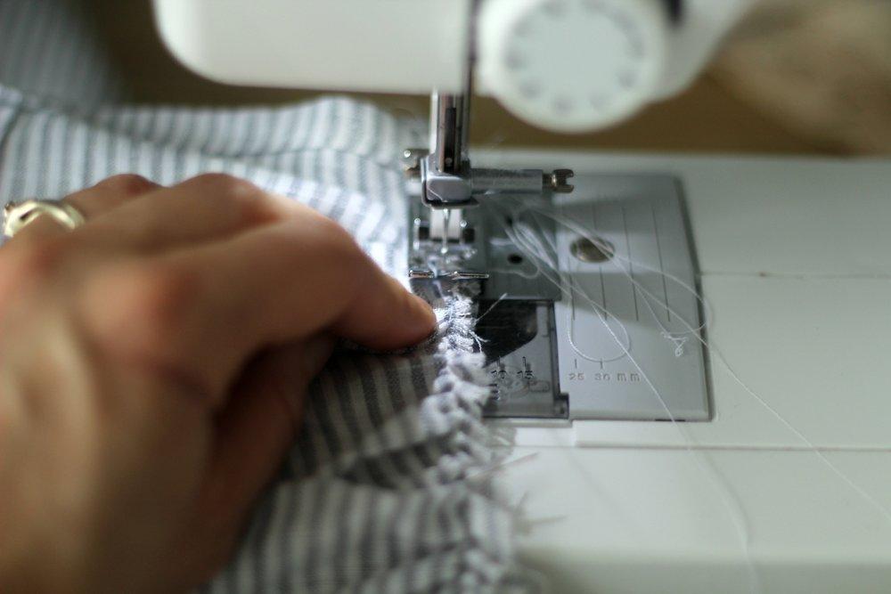 linen blanket sewing ruffles