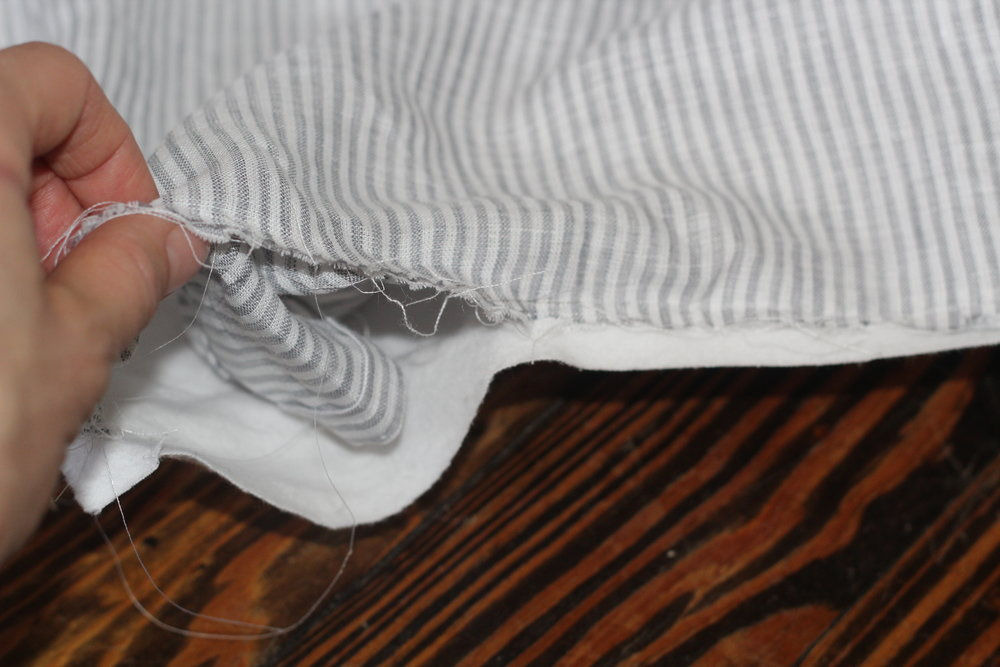 diy linen and flannel blanket sewing