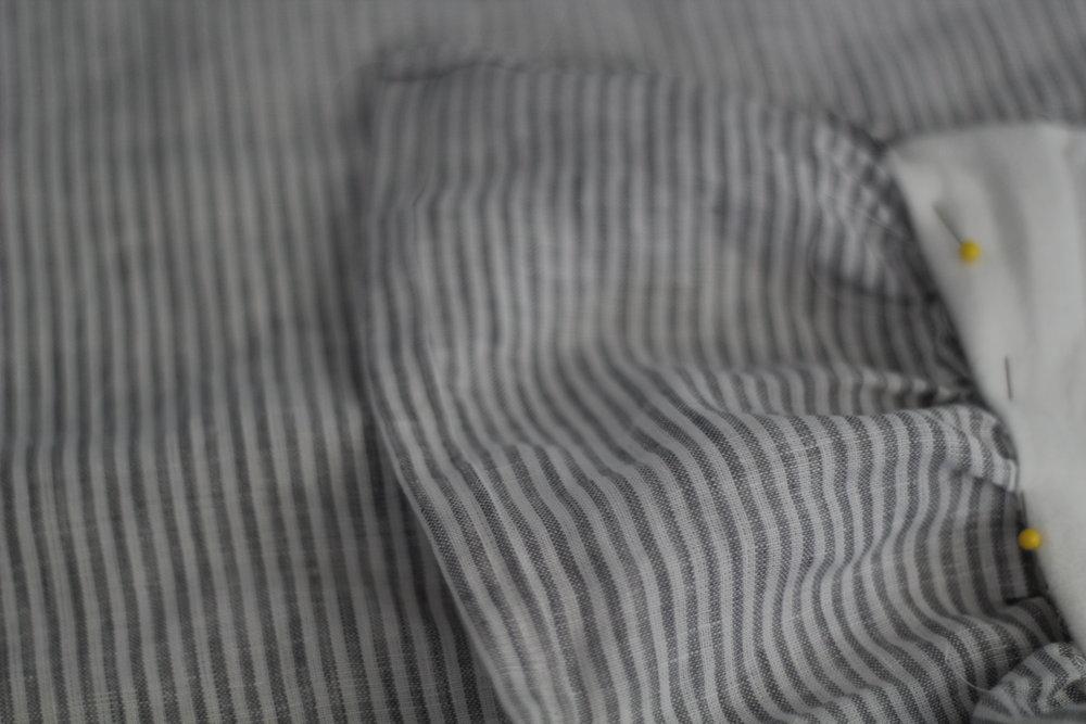 diy linen and flannel blanket