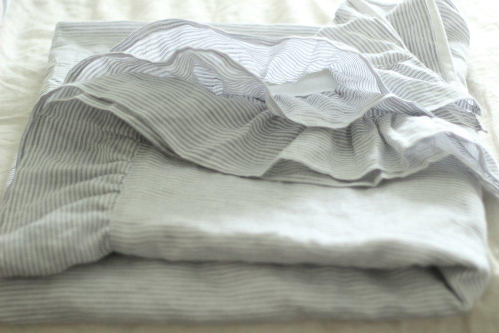 linen blanket folded