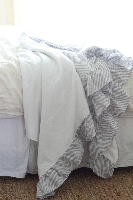 flannel back on linen blanket
