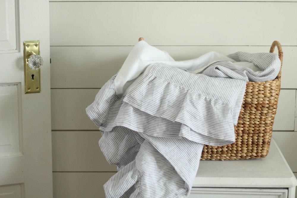 diy linen blanket