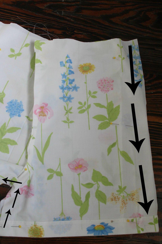 vintage sheets pajamas pattern