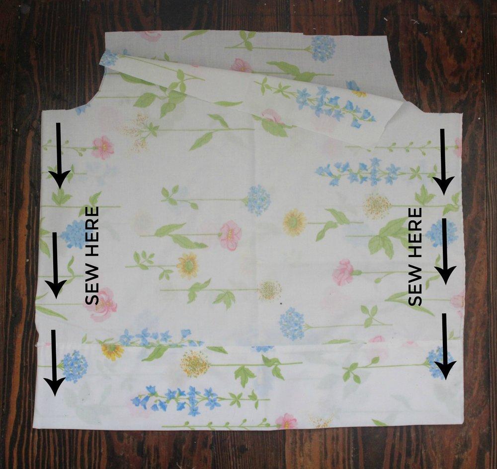 diy vintage sheet pajamas