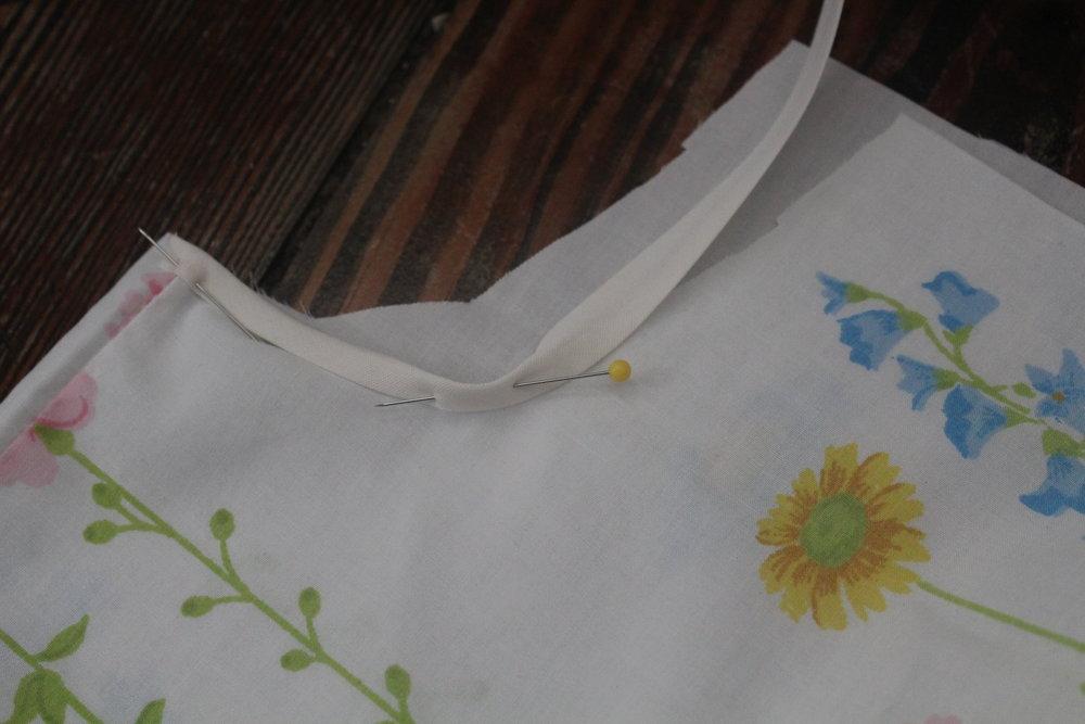 diy vintage sheet pajamas straps