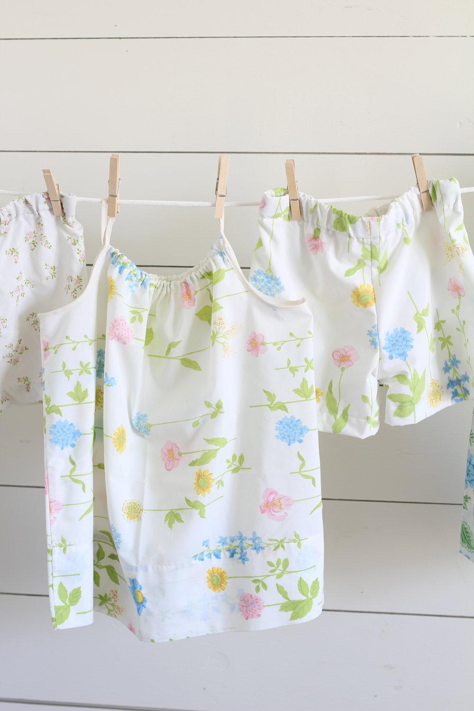vintage sheet pajamas