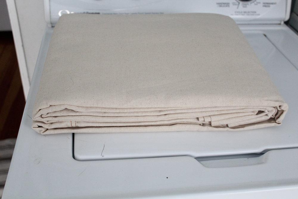 how to bleach drop cloth