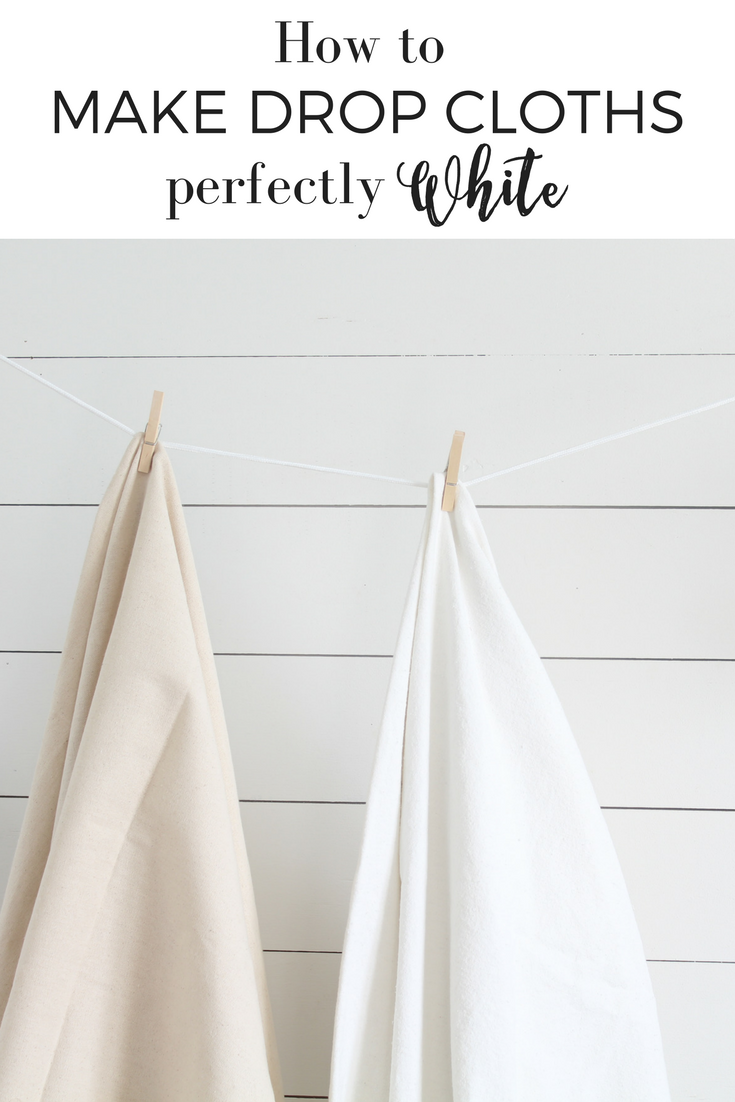 How to make drop cloths perfectly soft and white