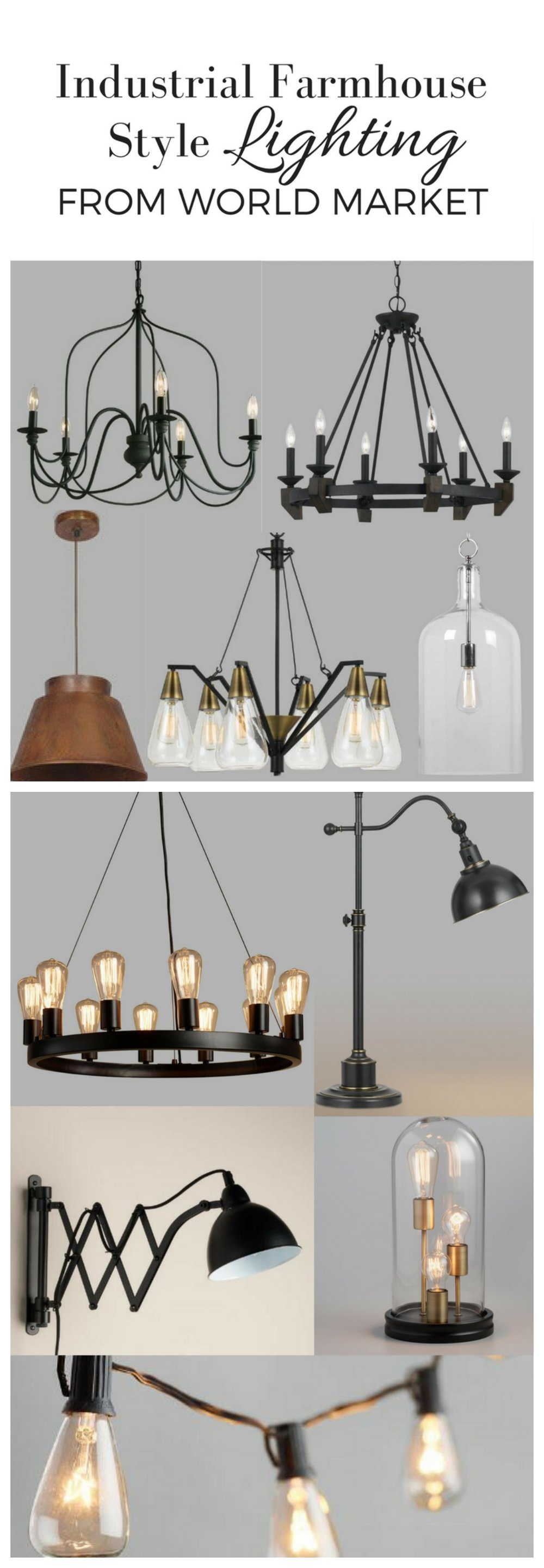 industrial farmhouse style lighting from world market