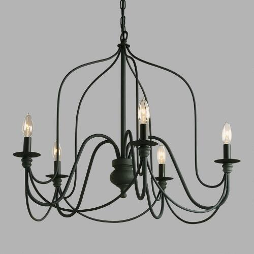 Industrial farmhouse style lighting from world market Industrial style chandeliers