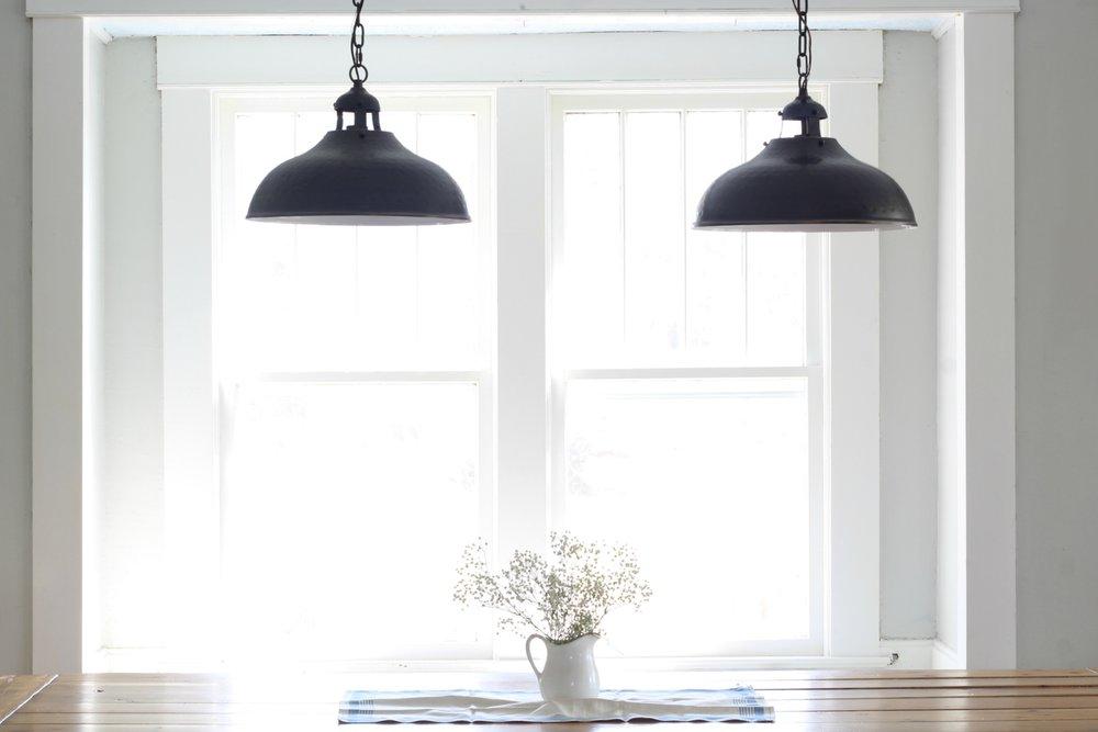 pendants farmhouse dining room