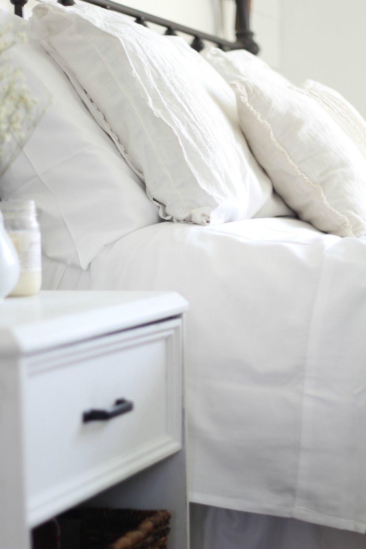 white organic cotton sheets