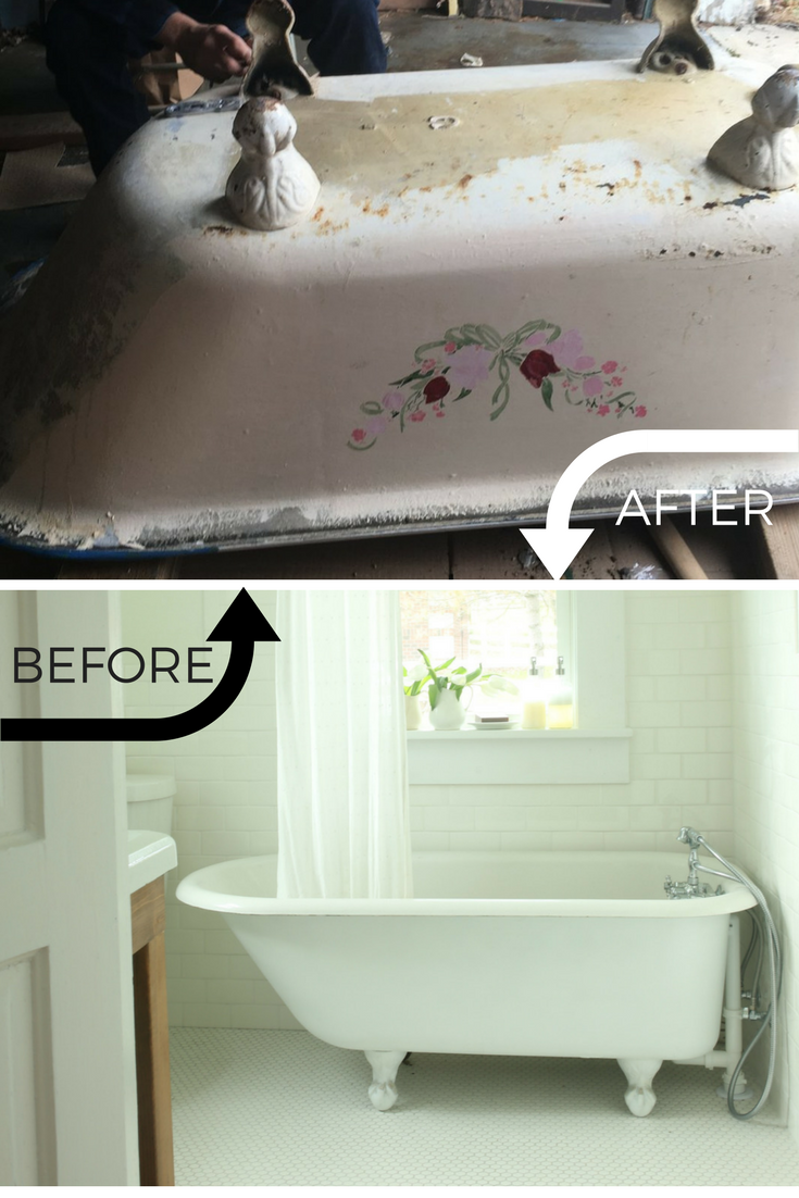 before-and-after-clawfoot-tub