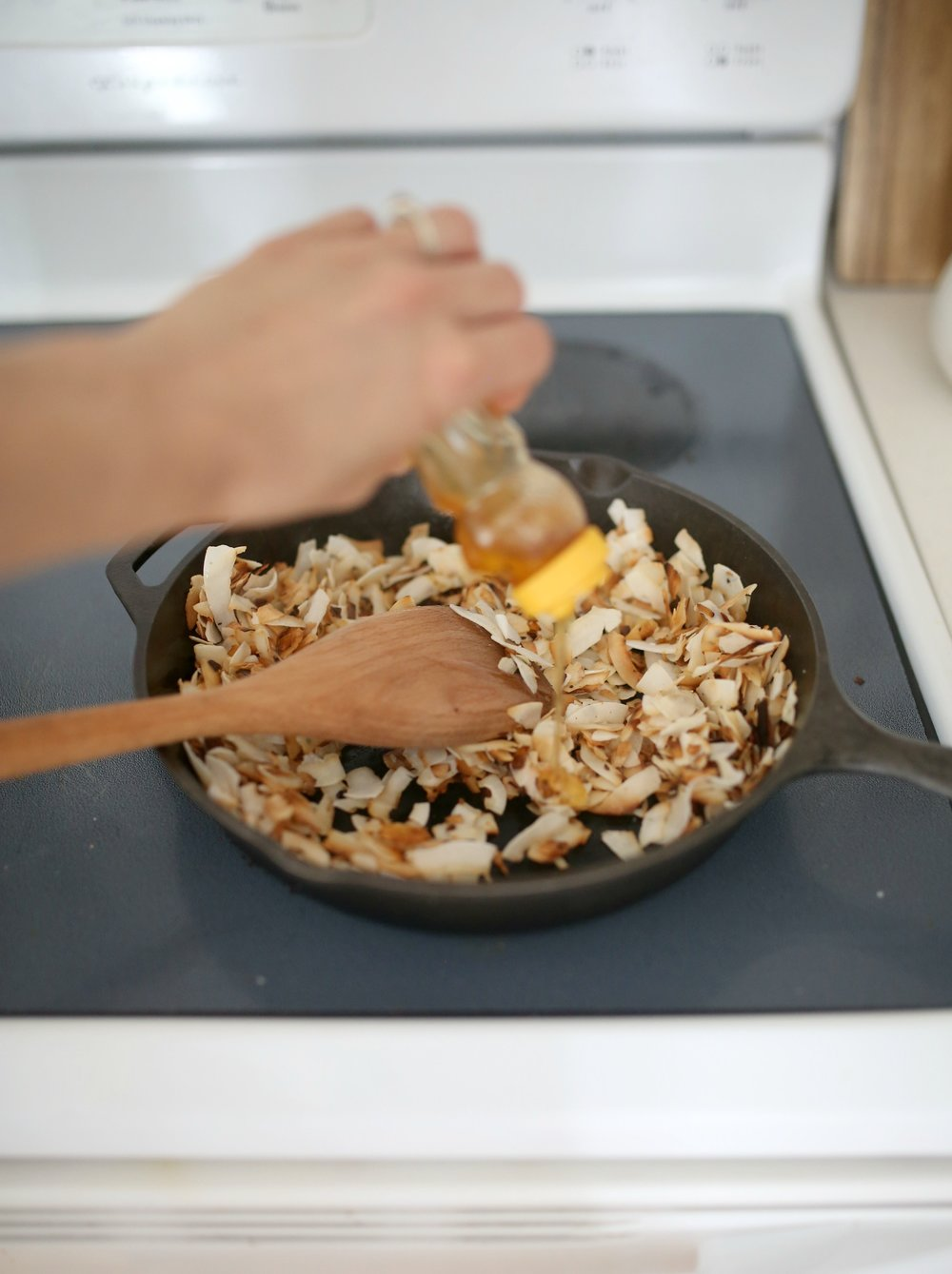 how to make honey toasted coconut chips