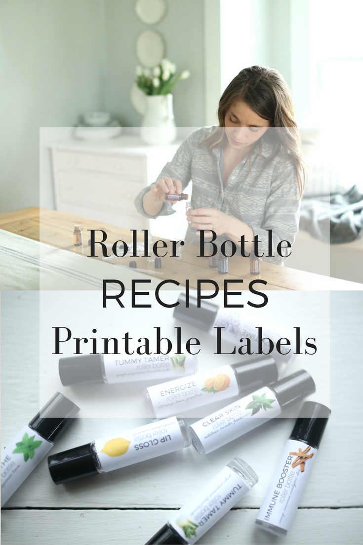 8 Roller Bottle Recipes with Printable Recipe Cards and Printable Labels
