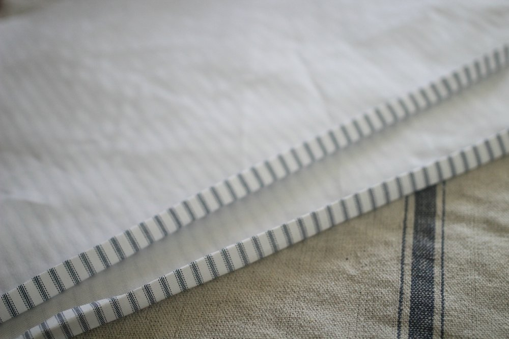 how to make ticking stripe pillows