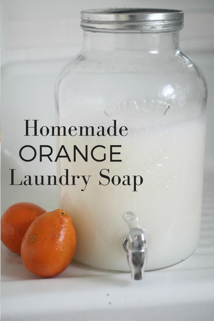 how to make orange laundry soap