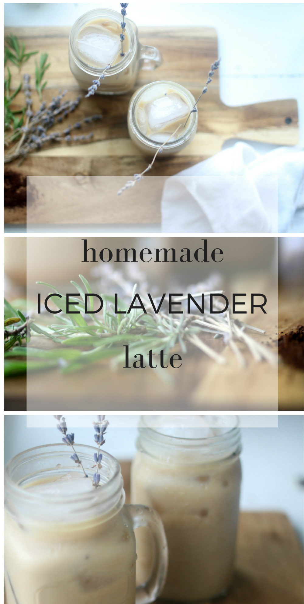 How to Make a Homemade Iced Lavender Latte with Essential Oils
