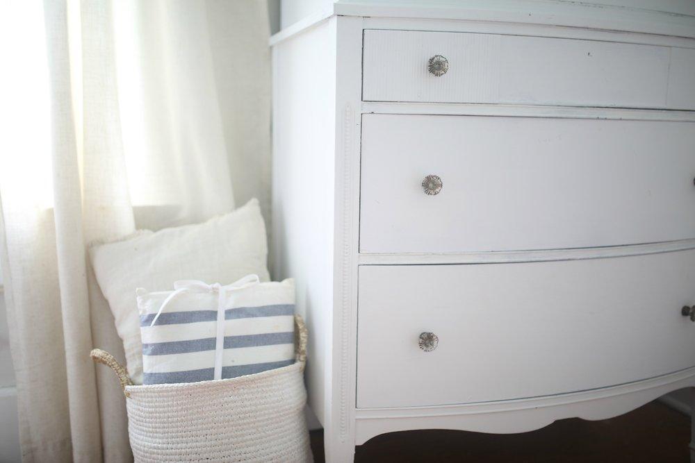 white linen chalk pant dresser makeover
