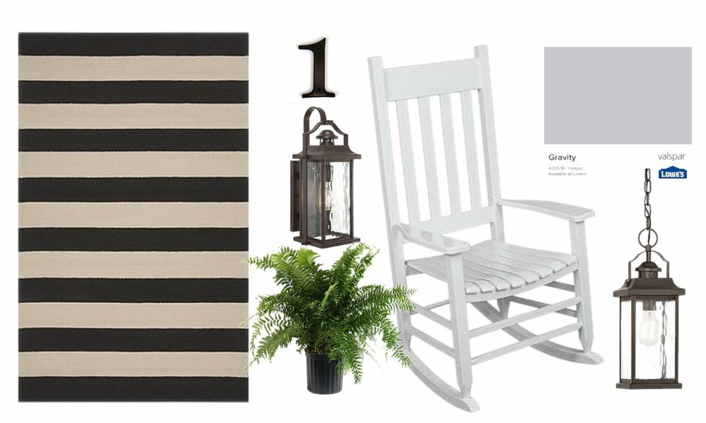 curb appeal makeover design board