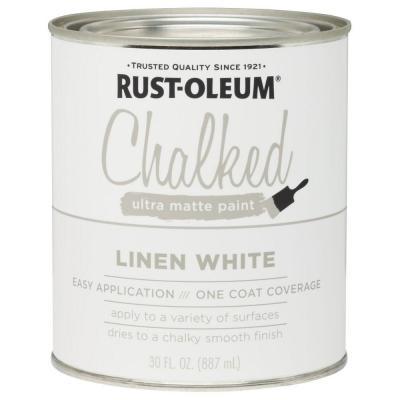 Rustoleum white linen chalk paint