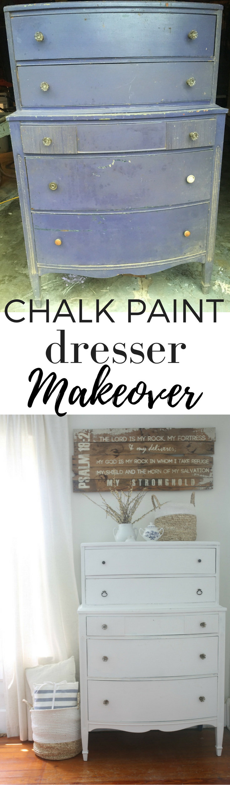 Linen White Chalk Paint Dresser Makeover Farmhouse Style