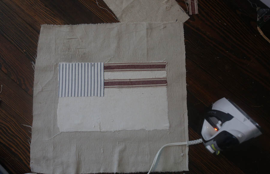 American flag pillow cover tutorial