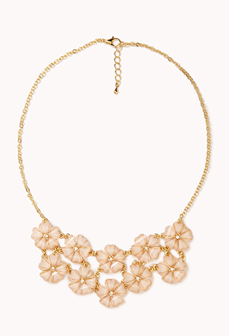 Shimmering Floral Bib Necklace