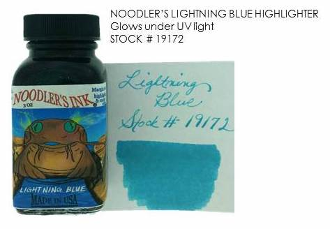 Noodler's Lightning Blue Review