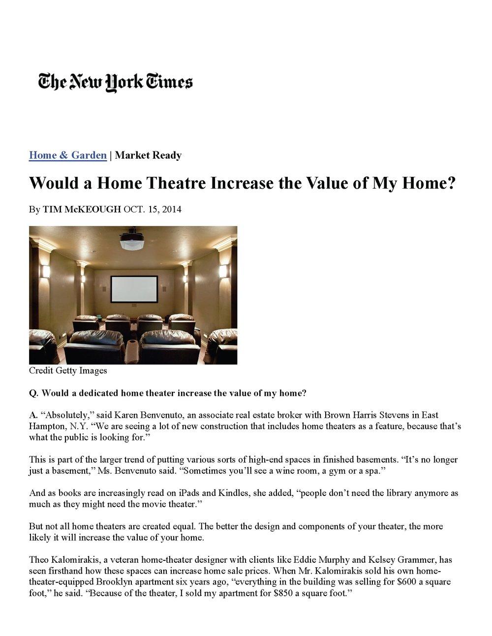 NY TIMES October 16, 2014