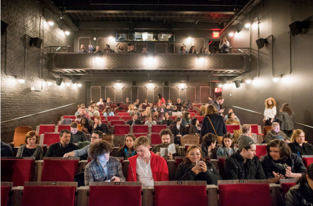 "The audience for a showing of ""Carol"" at the Metrograph, a new theater in Lower Manhattan."