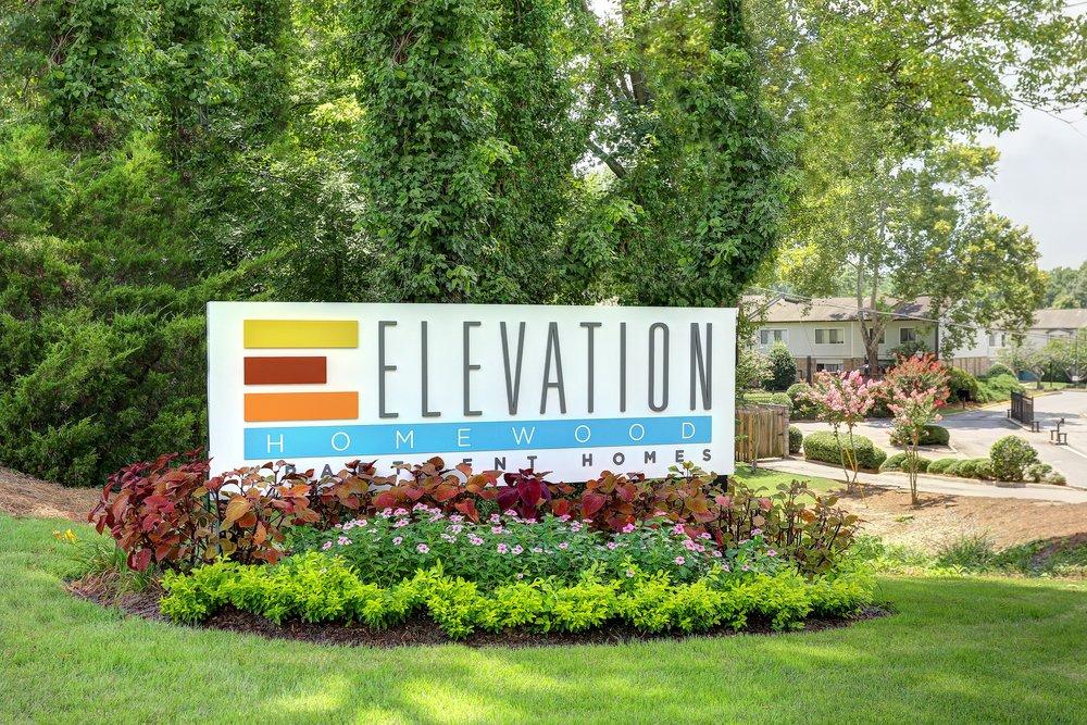 Elevation Homewood Sign