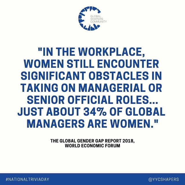 On #nationaltriviaday we wanted to share a stat from the recent @worldeconomicforum report on the global gender gap. Check out the report in the link in our bio and let us know which facts you found most interesting.  #facts #genderparity #equity #yyc #shapers