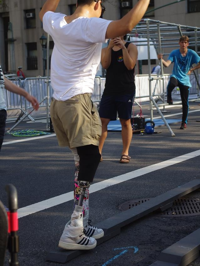 Accessible Obstacle Course   At NYC DOT's SummerStreets, for individuals with disabilities.  Client: Brooklyn Boulders Foundation & Adaptive Climbing Group Foley Square, NYC  2016