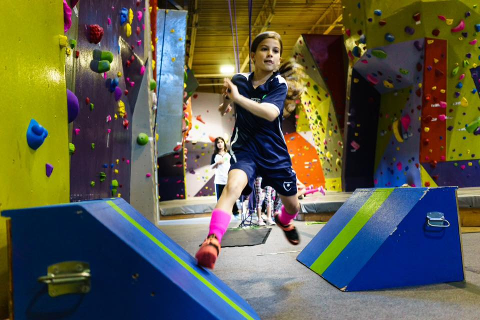 High Exposure Parkour→    Type : Gym  Status : Completed 2015  Location : North Vale NJ  Client : High Exposure Rock Climbing Gym