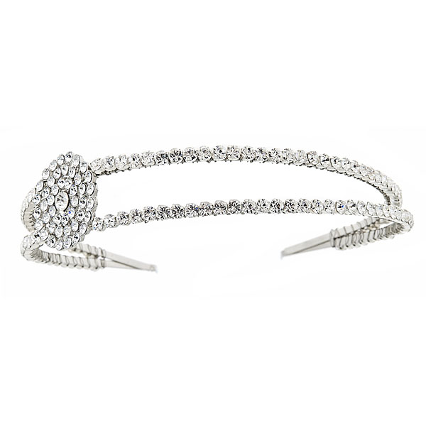 DARA Headband of Swarovski crystals Details: Available in gold and silver finish