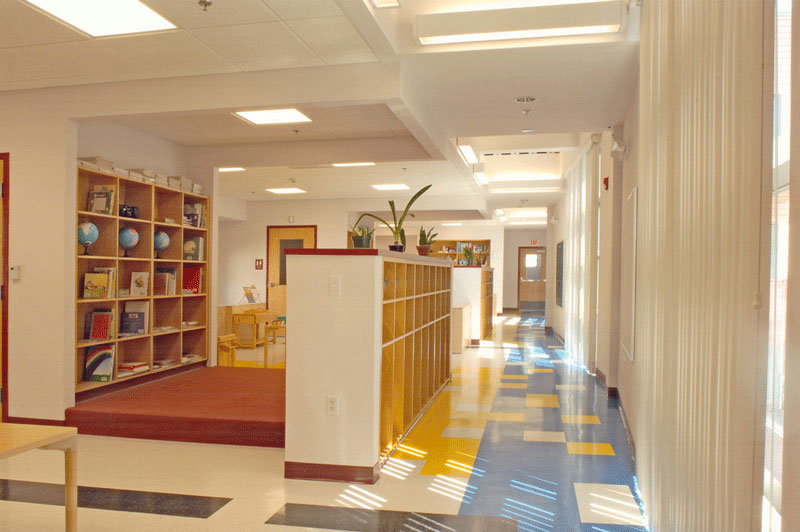 Interior of the Montessori School at the Alvis Brooker building.