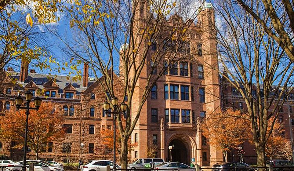 Yale University old campus building.