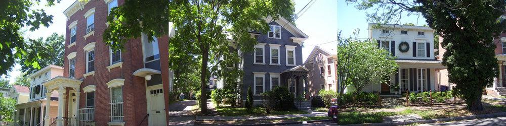Historic homes on Dwight Street.