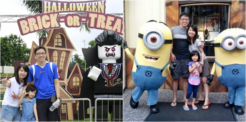Sasha favorite holiday - themepark. Legoland (Malaysia) and Universal Studio Singapore