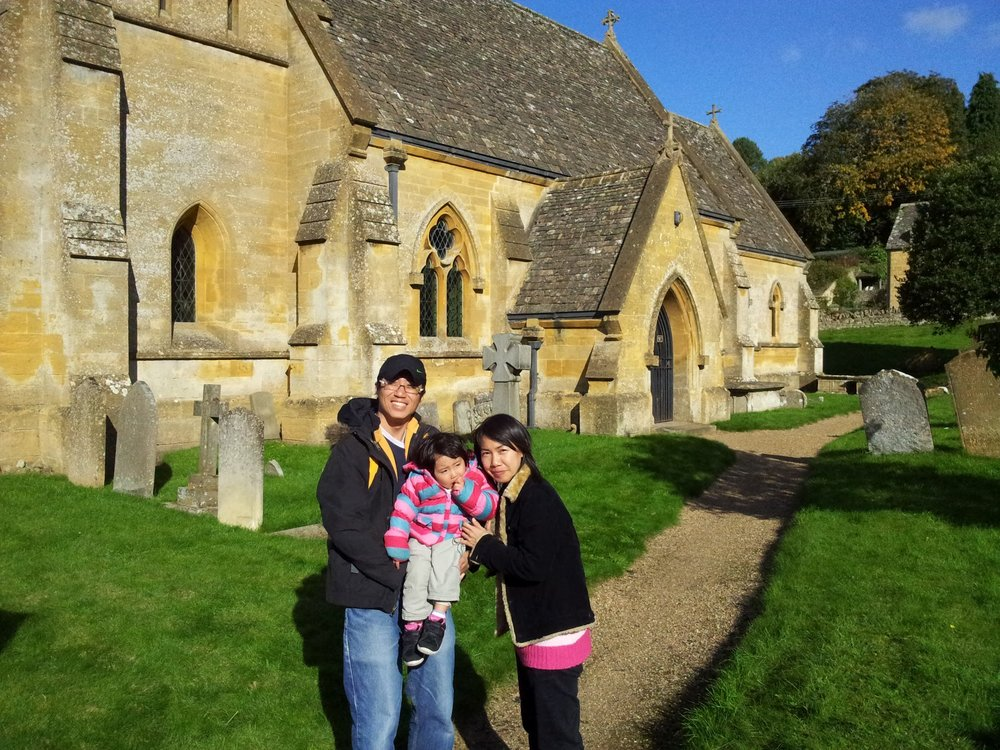 "St Barnabas Church at Snowhill where ""Bridget Jones Diary"" movie scene was shot"