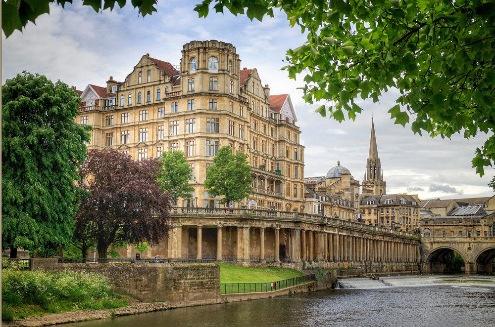 Riverside Walk Bath . Picture Credit: Bath tourism board