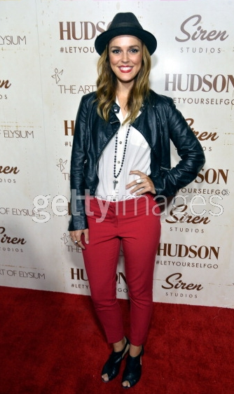 Actress Erin Cahill wearing a vintage one-of-a-kind Vanessalee necklace