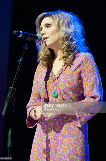 Country star Alison Krauss wearing the Vintage Turquoise One-Of-A-Kind Heart necklace