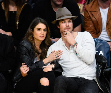 Actor Ian Somerhalder in his Red Jade & Turq necklace worn as a bracelet with wife Nikki Reed