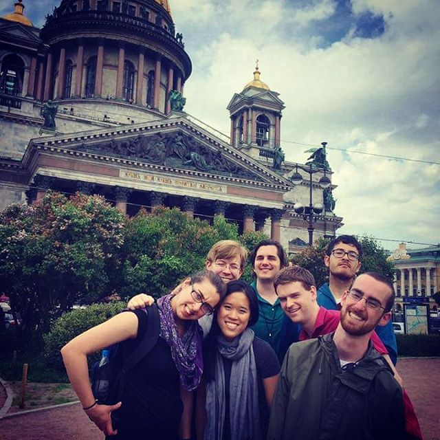 With the Yale ISM organists in St. Petersburg @yaleism